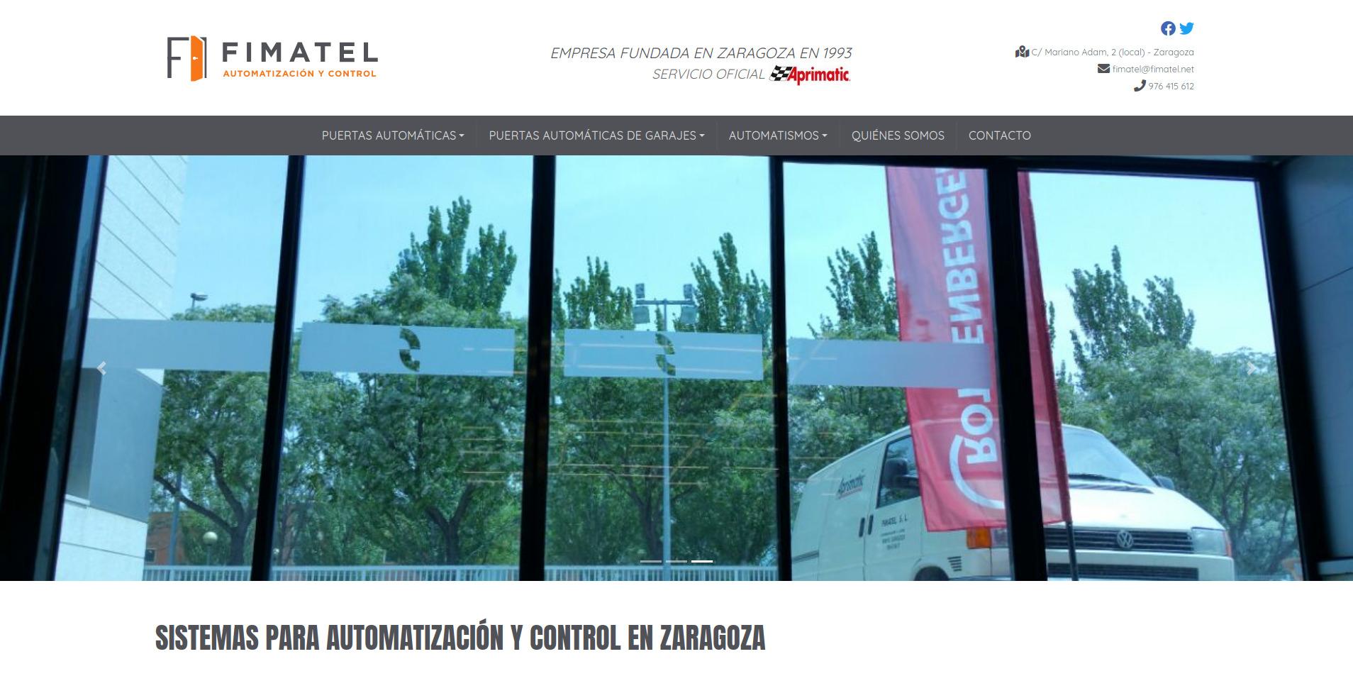 Nueva web para Fimatel