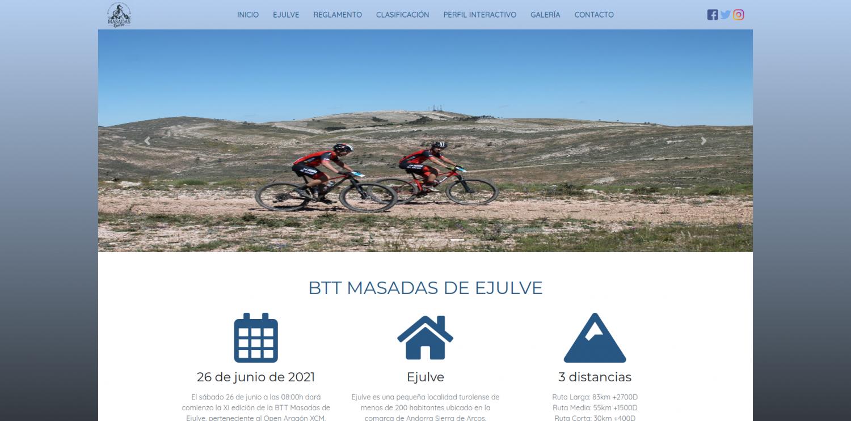 Nuevo look para la web de Ejulve BTT