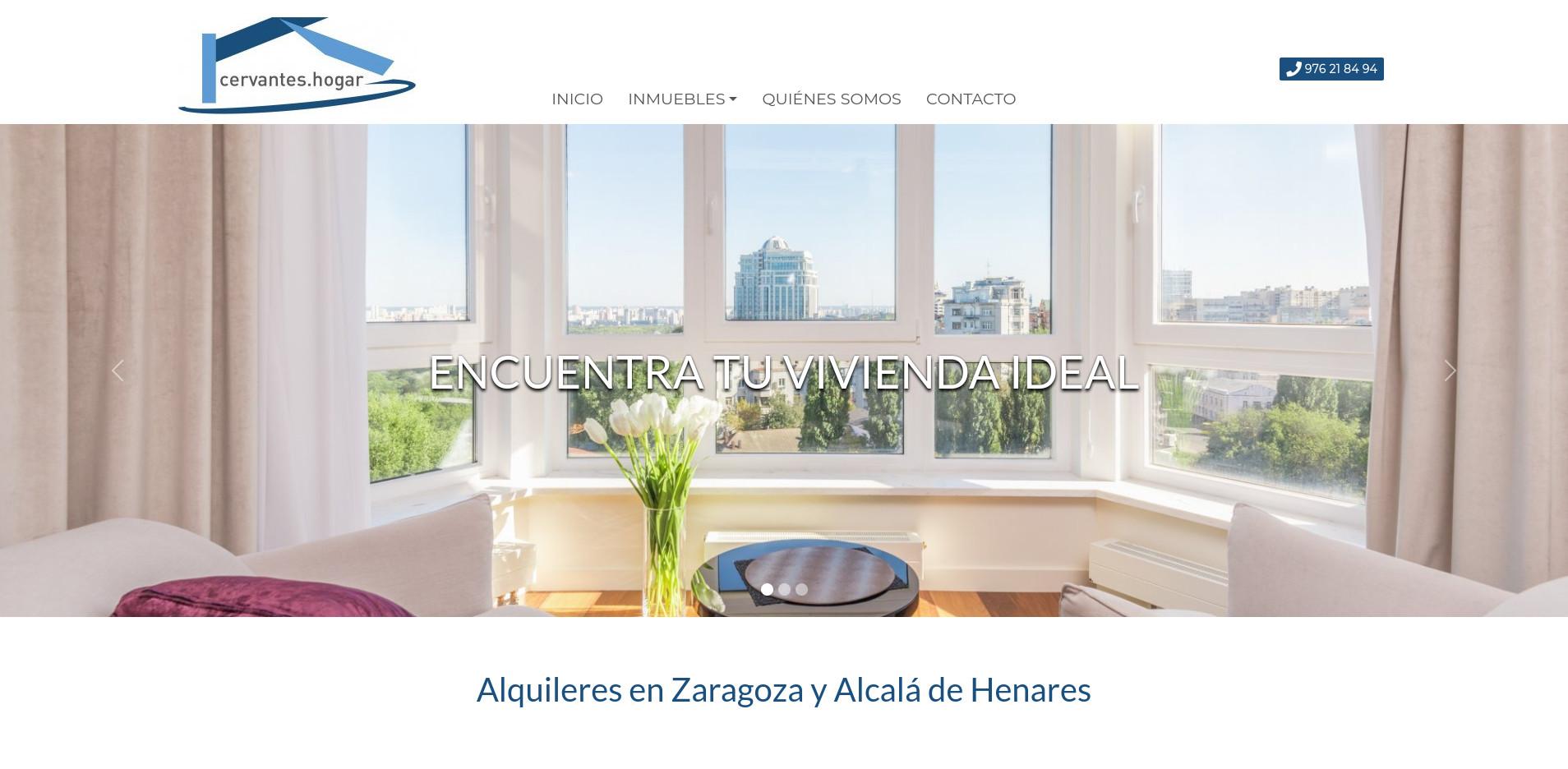 Cervantes Hogar inaugura web
