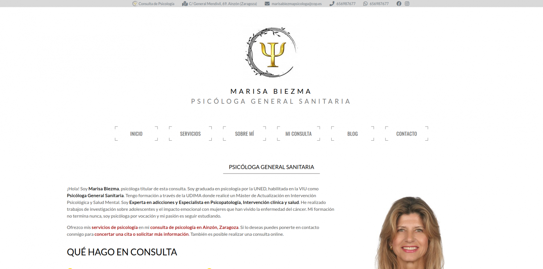 La psicóloga Marisa Biezma estrena web